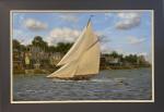 Wayward sailing past Cowes