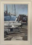 Boatyard sunshine and showers, Cowes