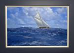 Yacht Britannia sailing in a stiff breeze
