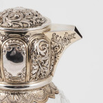 Pair of Victorian rock crystal claret jugs