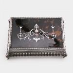 Edwardian silver & tortoiseshell jewel box