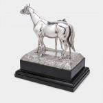 Silver model of horse & foal