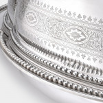 Victorian silver-plated Well & Tree dish & cover