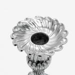 Rare set George III cast silver candlesticks