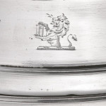 Four George III silver coasters