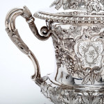 Scottish silver wine cooler with lid