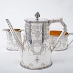4-piece Victorian silver tea & coffee set