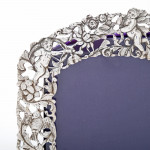 Decorative silver double photo frame