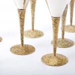 Six silver Stuart Devlin wine goblets