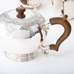 George II style silver bullet teapot