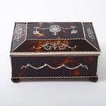 Tortoiseshell & silver jewel casket