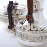 Fine George III silver tea & coffee set by the Royal Silversmith