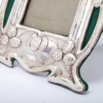 Pair of Art Nouveau silver photograph frames