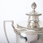 George III silver cup & cover
