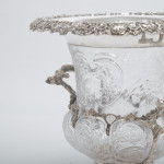 Crystal & silver wine or Champagne cooler
