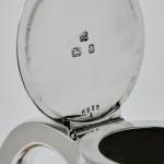 Victorian silver & crystal claret wine jug