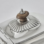 George III fluted silver teapot