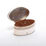 George III silver nutmeg grater