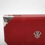 Rare antique leather gaming box