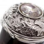 Scottish silver & horn snuff mull