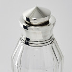 Art Deco glass & silver cocktail shaker
