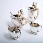4-piece Art Deco silver tea & coffee service