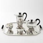 4-piece Art Deco silver tea & coffee set