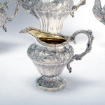 4-piece William IV silver tea & coffee set