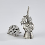 Novelty silver thistle pepper shakers