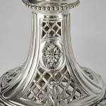 Pair antique Christofle silver-plated candelabra