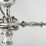 Pair George III silver & Old Sheffield Plate candelabra