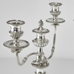 Pair antique George III style silver-plated candelabra