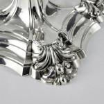 Pair 4-light George II style silver candelabra
