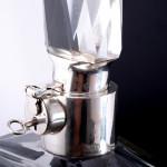 Pair of lockable Art Deco decanters