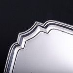 """10"""" George II style silver salver"""
