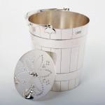 Edwardian silver ice bucket
