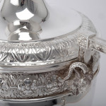 Large silver cup & cover