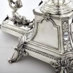 7-basket Edwardian silver centrepiece