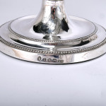 Pair George III neoclassical silver candlesticks