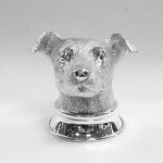 Jack Russell silver stirrup cup
