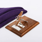 Oak & silver letter clip with Lord Nelson signal