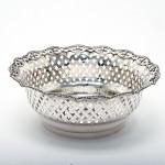 Antique pierced silver fruit basket