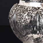 Silver mounted crystal bowl
