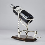 Antique silver-plated wine cradle