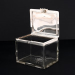 Antique silver & glass biscuit box