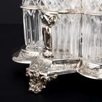 Victorian silver cruet set