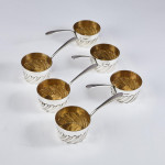 Set of Victorian silver table saucepans