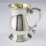 George III silver pint mug