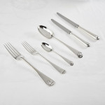 One date & maker Old English Shell silver cutlery for 12