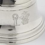 Heavy cast silver bell